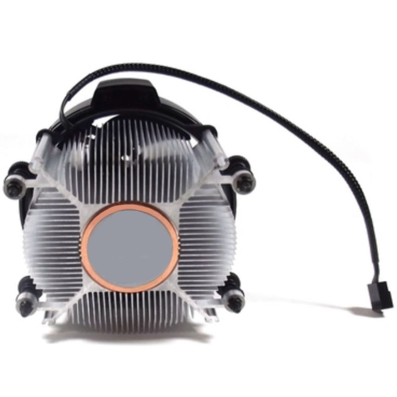 AMD Wraith Spire RGB LED Lighting Socket AM4 4-Pin Connector CPU Cooler With Copper Core Base & Aluminum Heatsink & 4.05-Inch Fan With Pre-Applied Thermal Paste For Desktop PC Computer