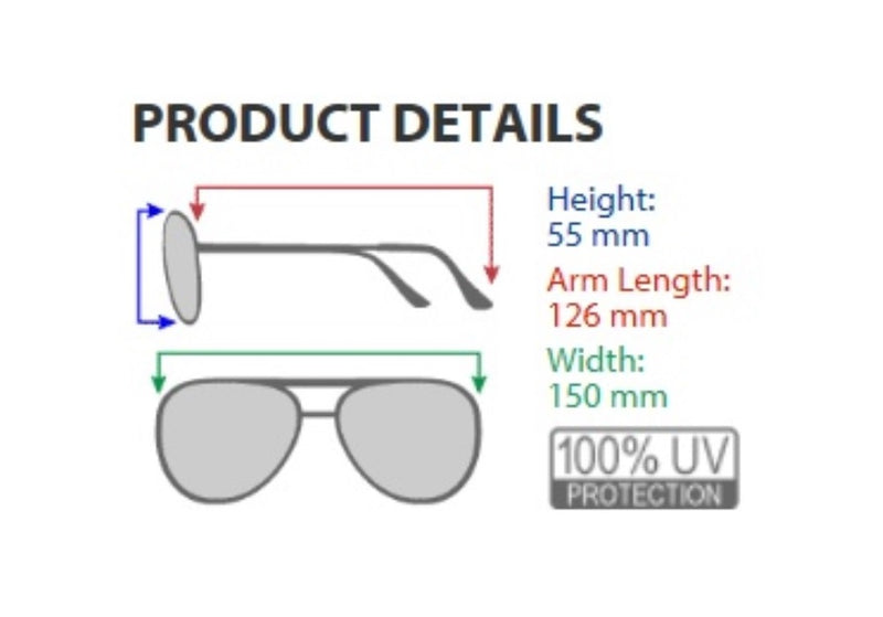 TRONWIRE Aviator Full Silver Mirror Metal Frame Sunglasses