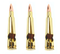 Set Of 3 Premium Heavy Duty Replica 50 Caliber BMG Bullet Bottle Openers
