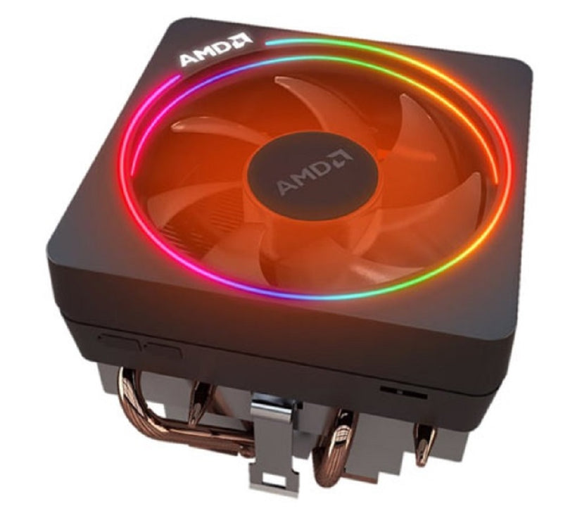AMD Wraith Prism RGB LED Lighting Socket AM4 4-Pin Connector CPU Cooler With Copper Core Base & Aluminum Heatsink & 4.13-Inch Fan With Pre-Applied Thermal Paste For Desktop PC Computer