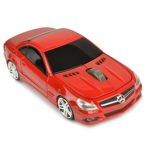 3-Button Road Mice Mercedes SL550 (Red) 2.4GHz Wireless USB Optical Mouse