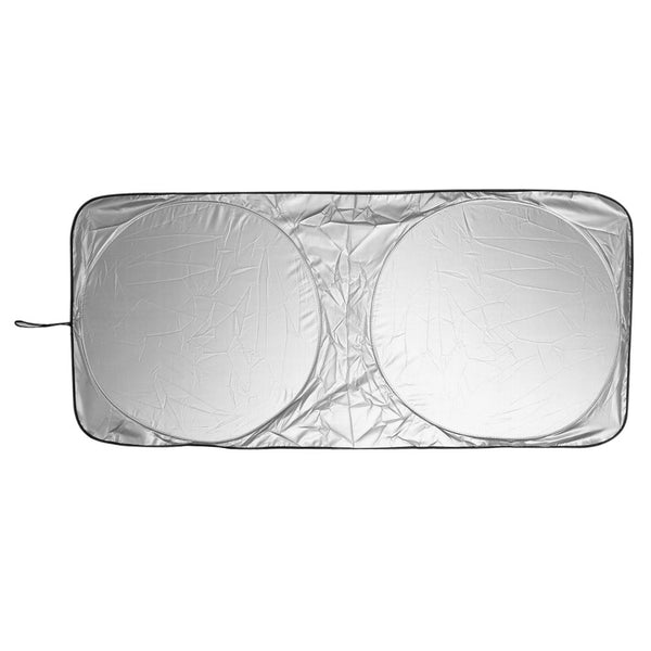 TRONWIRE Car Windshield Sun UV Ray Block Visor Protector Shade - Keep Your Vehicle Cool and Damage Free, Easy to Use, Fits Windshields of Various Size