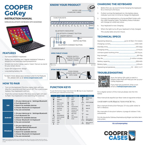 Cooper Gokey Keyboard user manual
