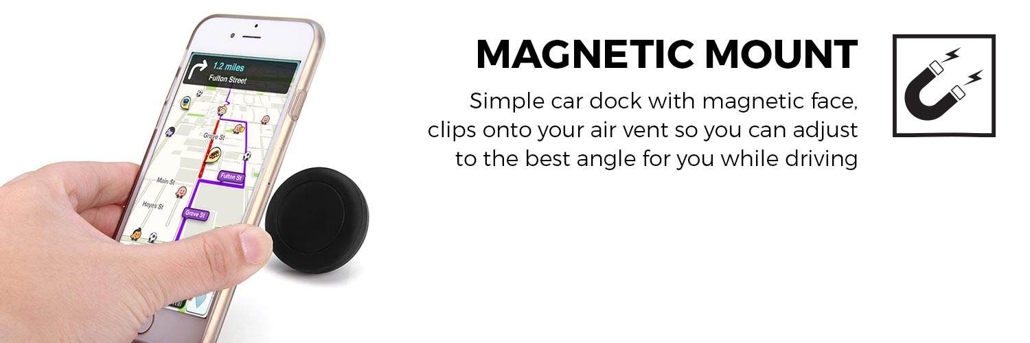 Cooper Navigator Jr. Universal Phone Magnetic Car Air Vent Display Mount