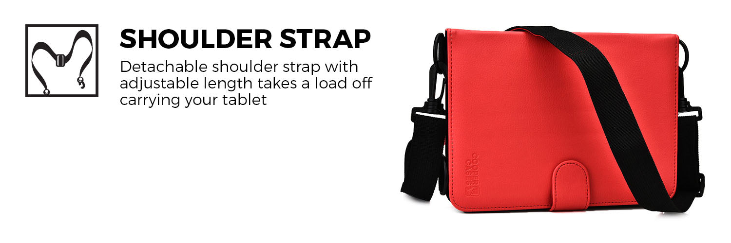 Cooper Magic Carry Universal Folio with Shoulder Strap for 7-8'' / 9-10.1'' / 11-12'' Tablets
