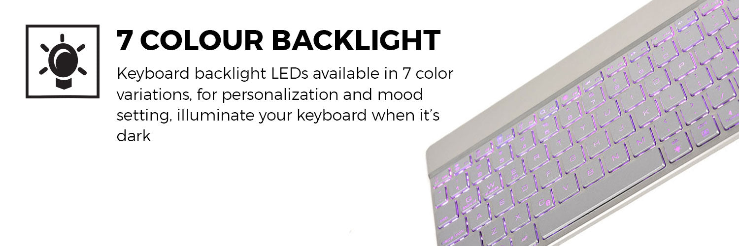 Cooper Aurora Wireless Bluetooth LED Keyboard for Tablets & Mobile Devices