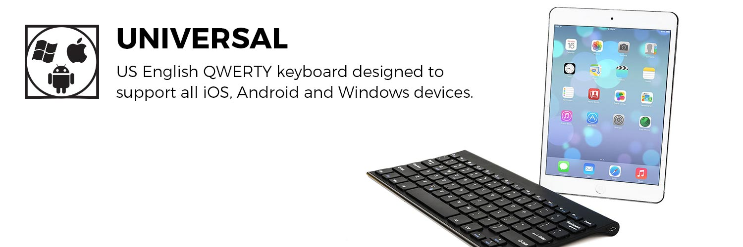 Cooper Cases Enterprise Universal Wireless Bluetooth Keyboard