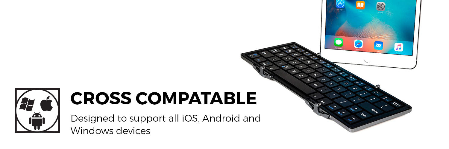 Optimus Universal Tablet Collapsible Wireless Bluetooth Keyboard