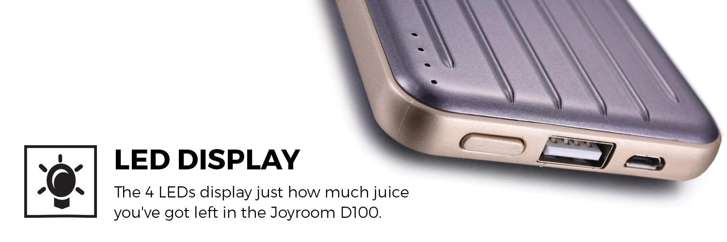 Joyroom Suitcase D100 6800mAh Portable Power Bank for Tablets & Smartphones