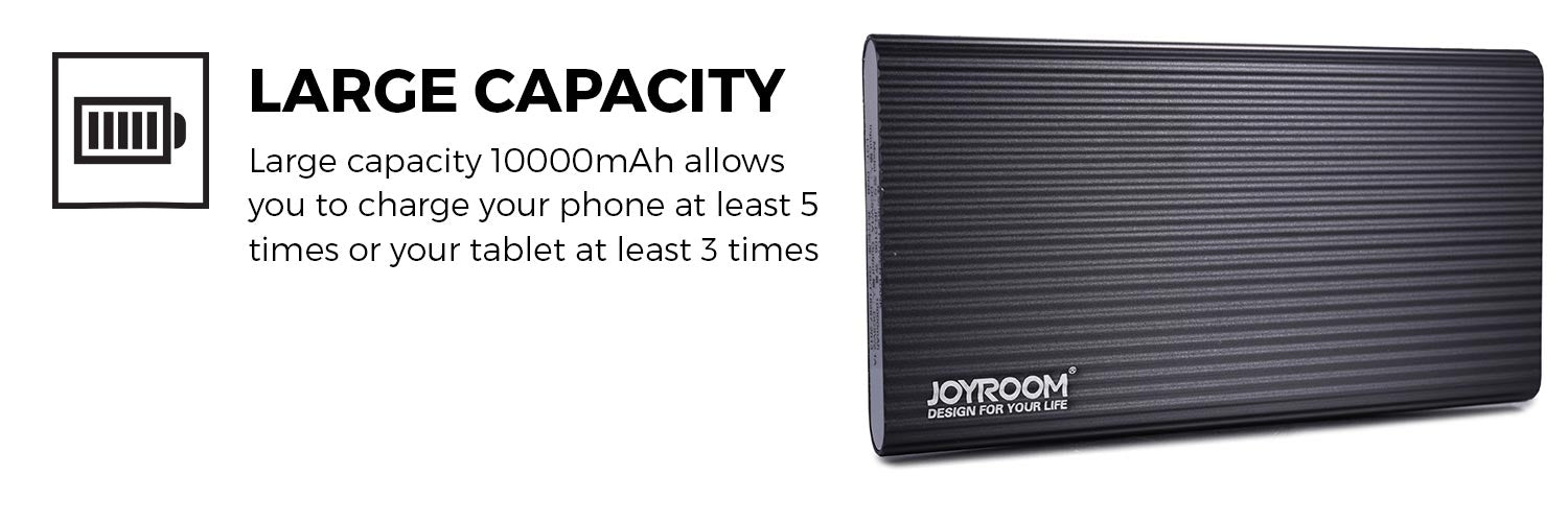 Joyroom Iron Series D106 10000mAh Portable Power Bank for Tablets & Smartphones