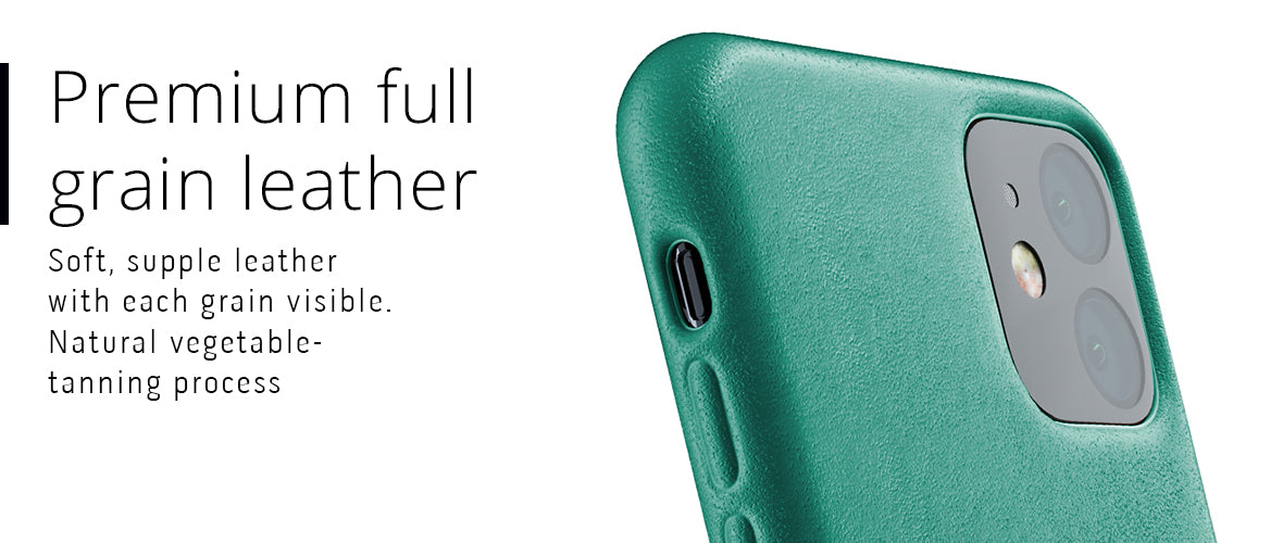 Premium full grain leather case for iPhone 11