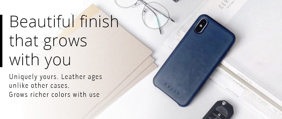Natural aging leather iPhone 11 Pro case