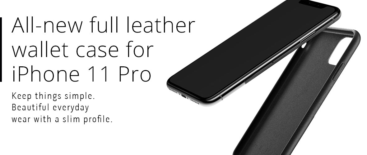 All-new Full Leather Wallet case for iPhone 11 Pro