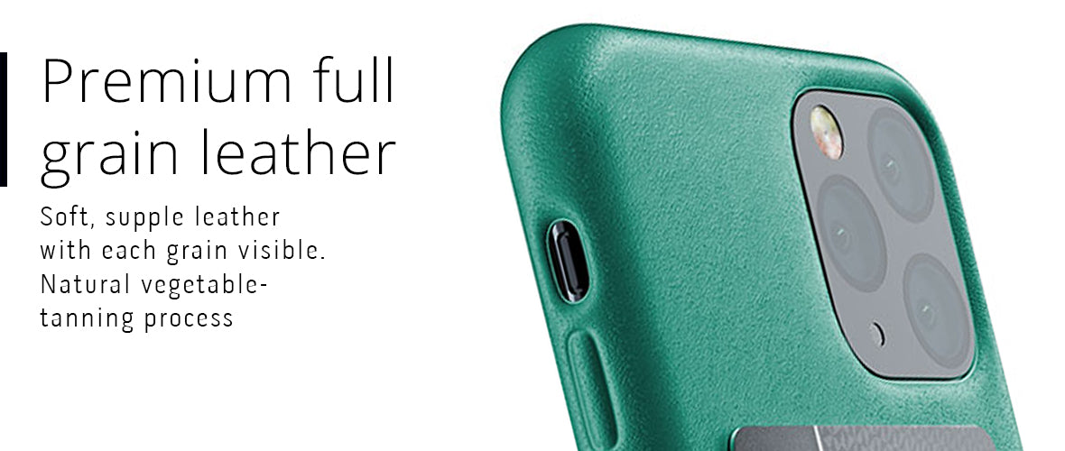 Premium full-grain leather case for iPhone 11 Pro