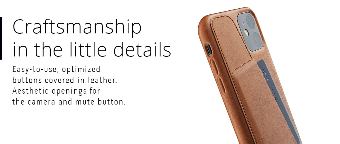 iPhone 11 leather case craftsmanship in the little details