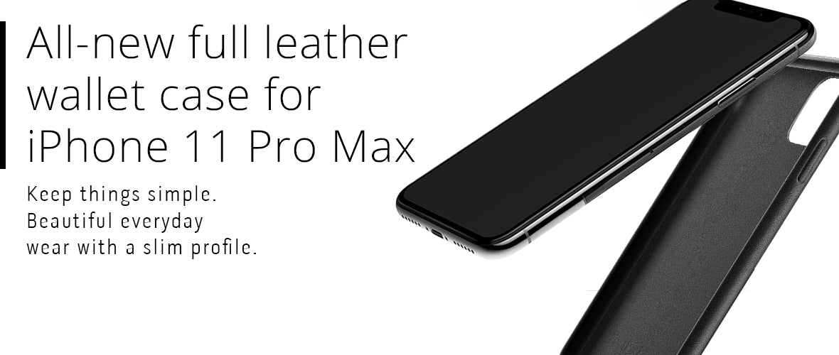 All-new Full Leather wallet case for iPhone 11 Pro Max