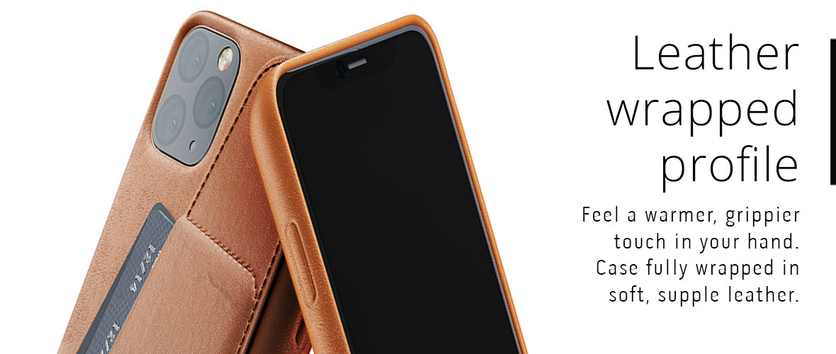 Leather wrapped case profile for iPhone 11 Pro Max