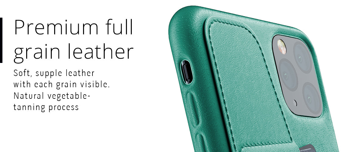 Premium full-grain leather case for iPhone 11 Pro Max