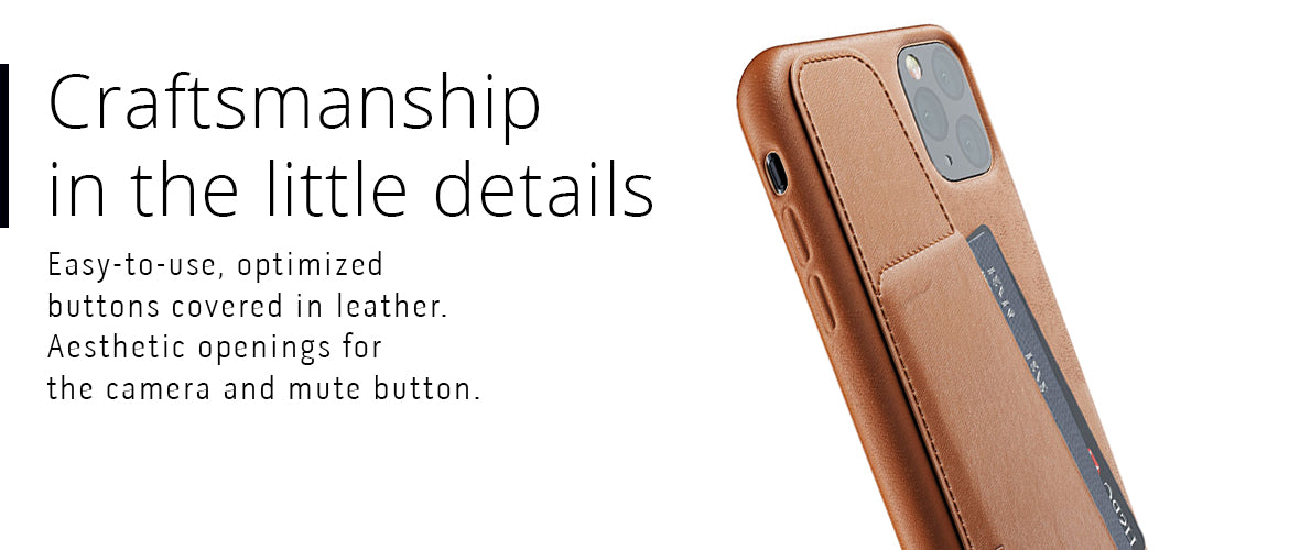 iPhone 11 Pro Max leather case craftsmanship in the little details
