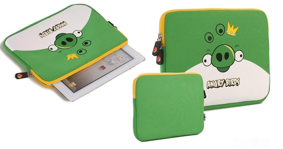Angry Birds Themed Sleeve for Apple iPad, 7-8 & 9-10.1 Inch Tablets
