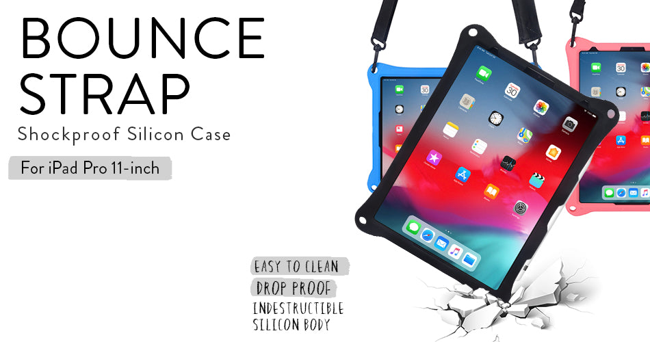 Cooper Bounce Strap for iPad Pro 11 - a rugged, shockproof case from silicone