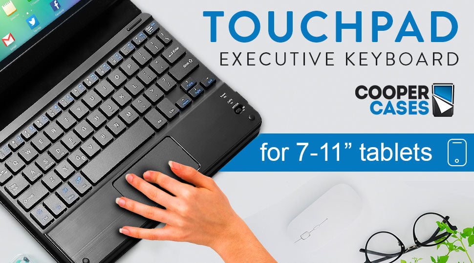 Cooper Touchpad Executive leather keyboard case for tablets