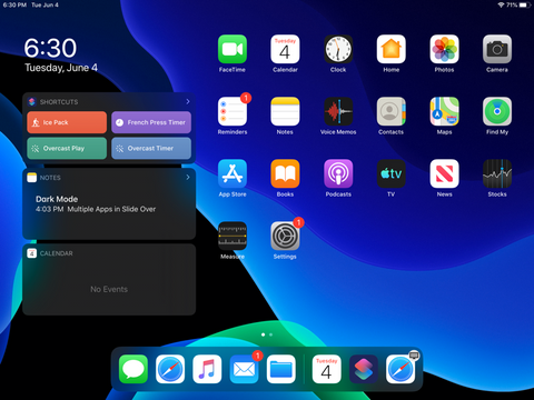 iPad Home Screen - new iPad OS