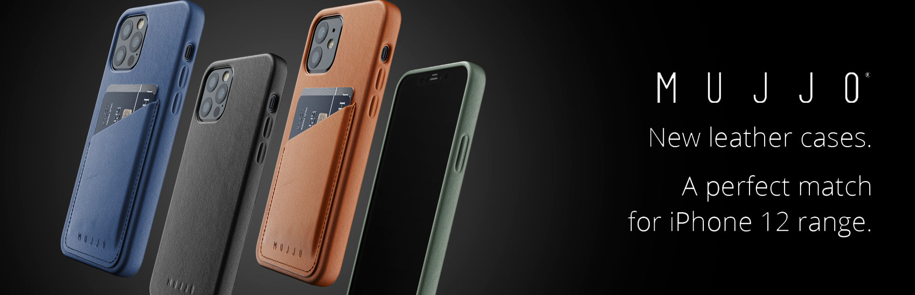 Mujjo leather cases for iPhone 12