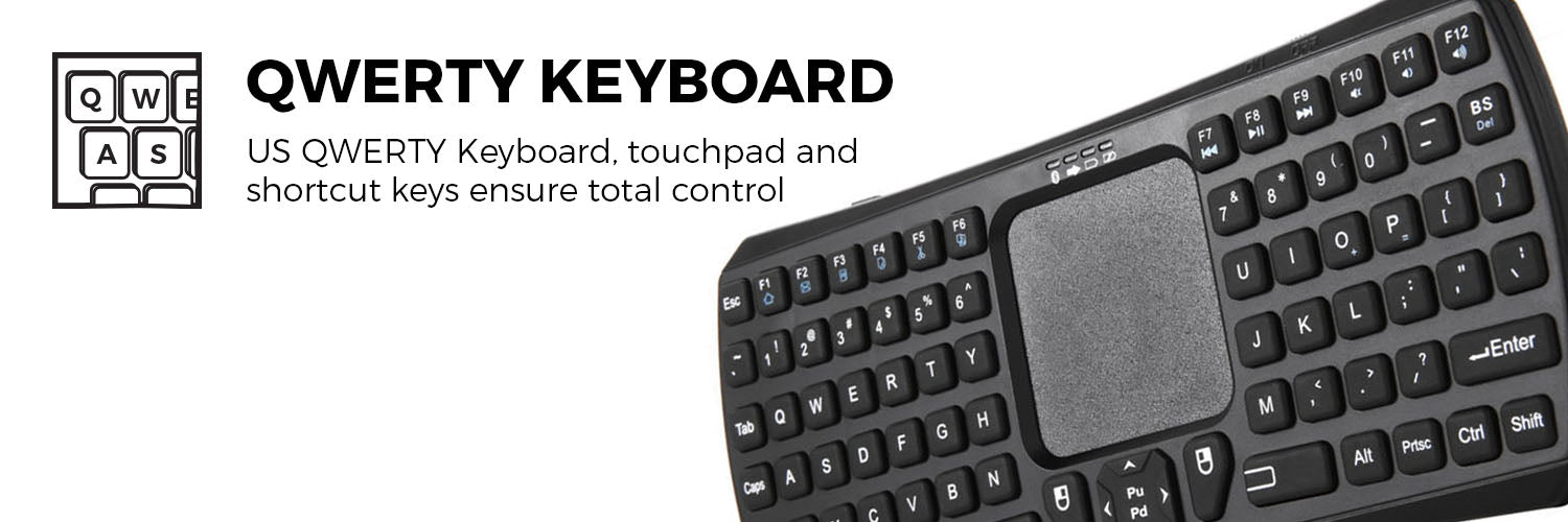 Cooper Magic Wand II Universal Bluetooth Wireless Keyboard Remote with Trackpad for Tablets, Phones & Smart TV