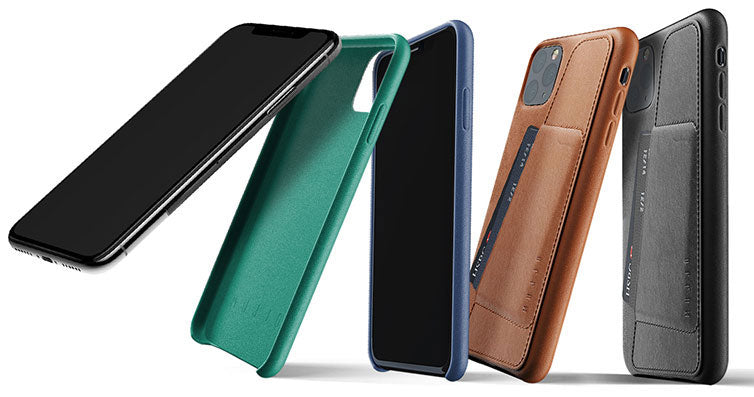 Mujjo Full Leather cases for iPhone and Samsung Galaxy