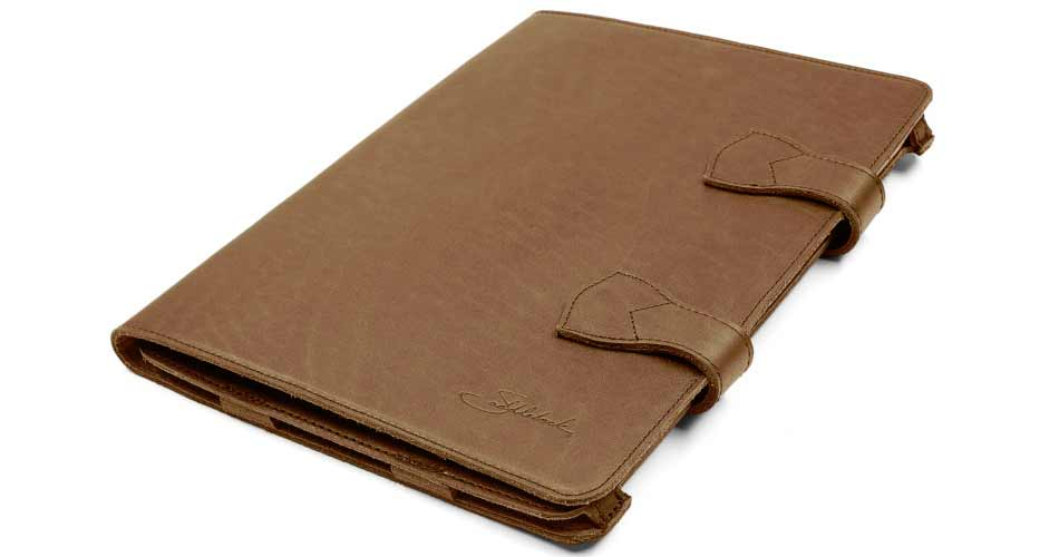 new concept 11e35 837cc Saddle Up Your iPad Pro With a New Full-Grain Leather Folio Case ...