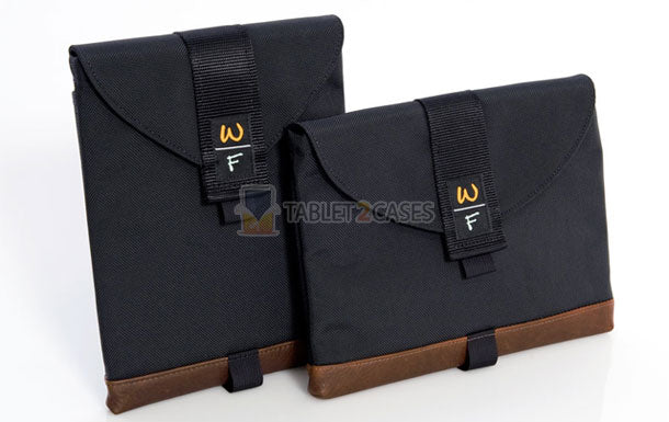 Vertical (left) and Horizontal (right) SleeveCases with Leather Trim