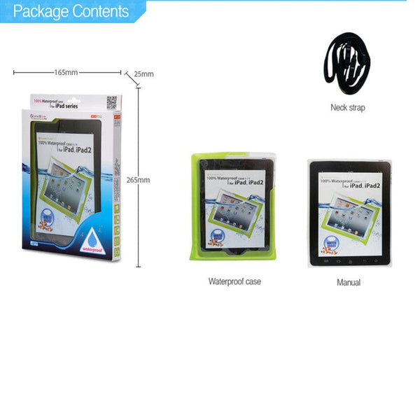 DiCAPac WP-i20 Floating Waterproof Case with Hand Strap for Apple iPad - 18