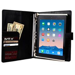 "Cooper FolderTab Executive Leather Portfolio Case with Notepad for all Apple iPads & 7-10"" Tablets - 1"
