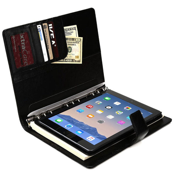 "Cooper FolderTab Executive Leather Portfolio Case with Notepad for all Apple iPads & 7-10"" Tablets - 2"