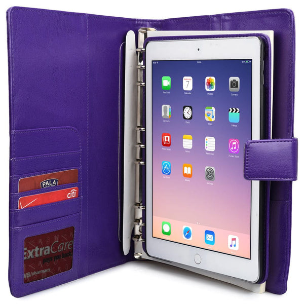 "Cooper FolderTab Executive Leather Portfolio Case with Notepad for all Apple iPads & 7-10"" Tablets - 9"