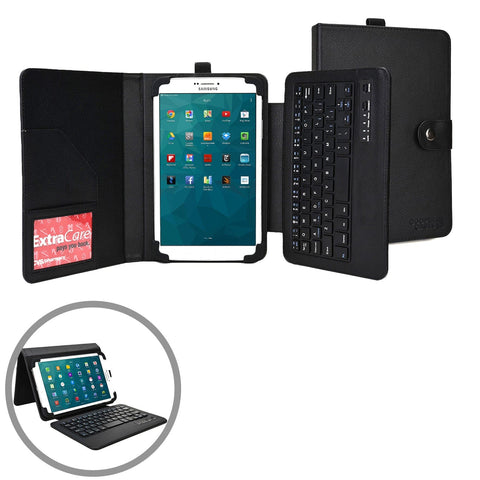 "Cooper Workstation Universal 7-8"" / 9-10"" Tablet Business Tri-Fold Portfolio Keyboard Case - 1"