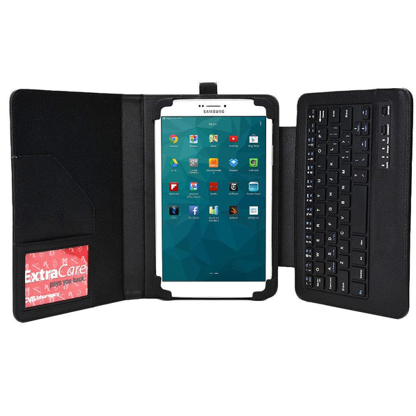 "Cooper Workstation Universal 7-8"" / 9-10"" Tablet Business Tri-Fold Portfolio Keyboard Case - 6"