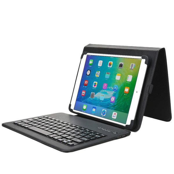 "Cooper Workstation Universal 7-8"" / 9-10"" Tablet Business Tri-Fold Portfolio Keyboard Case - 9"