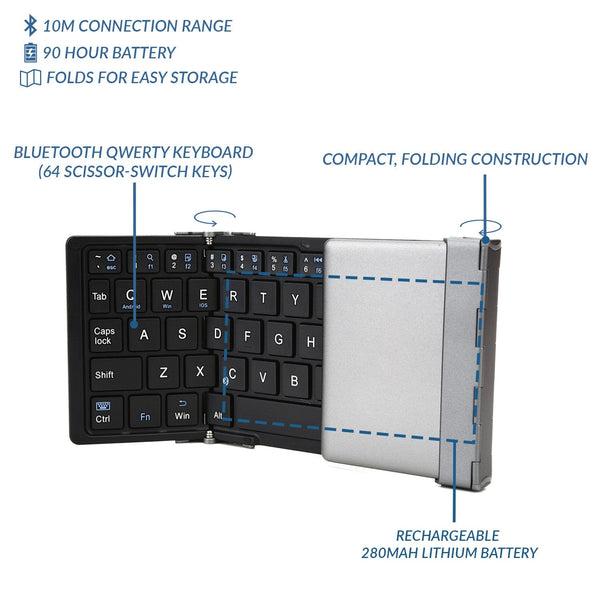 Cooper Optimus Universal Tablet Collapsible Bluetooth Keyboard - 6