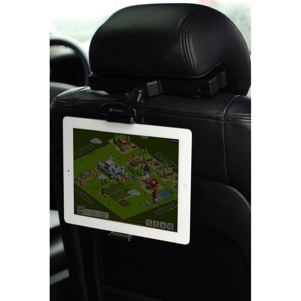 "EXOGEAR ExoMount Tablet HRM Universal Car Seat Headrest Mount for 7"" - 10.1"" Tablets - 6"
