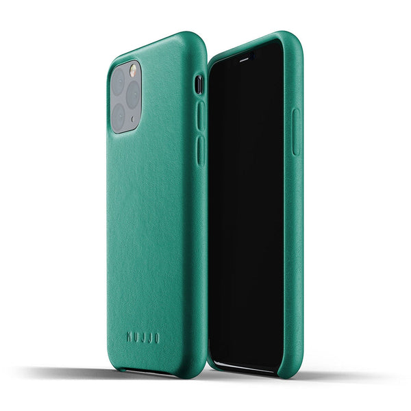 Mujjo Leather case for iPhone 11 Pro in Alpine Green