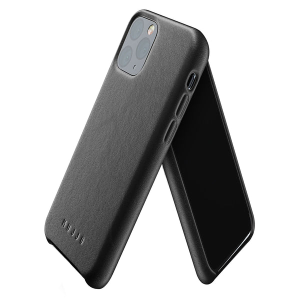 Mujjo Leather case for iPhone 11 Pro in Black
