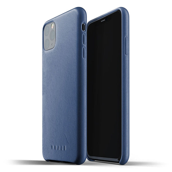 Mujjo Full Leather case for iPhone 11 Pro Max in Monaco Blue