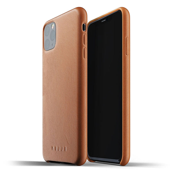 Mujjo Full Leather case for iPhone 11 Pro Max in Tan