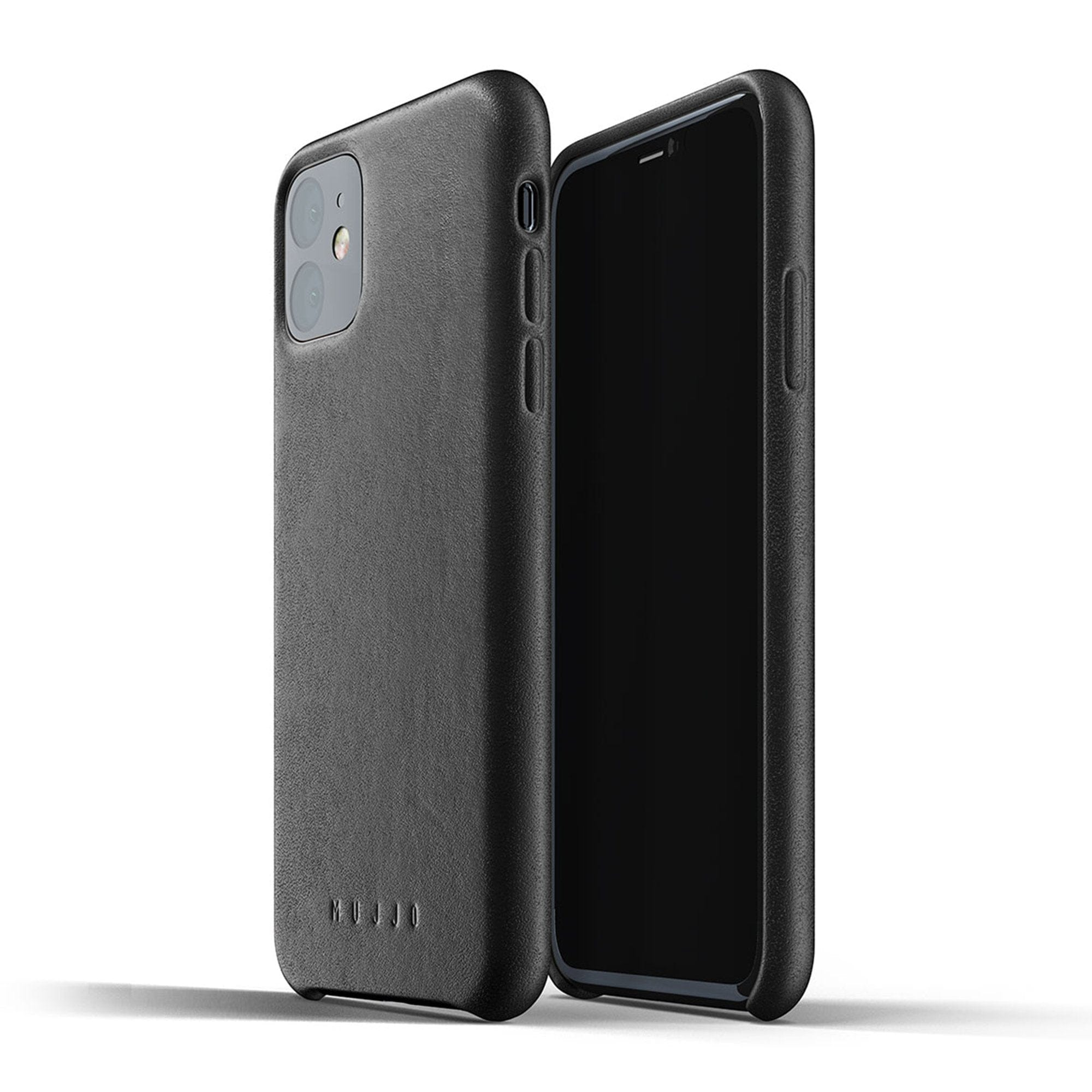 Mujjo Full Leather case for iPhone 11 in Black