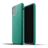 Mujjo Full Leather case for iPhone 11 in Alpine Green
