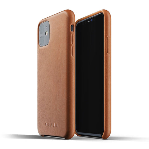 Mujjo Full Leather case for Apple iPhone 11 in Tan