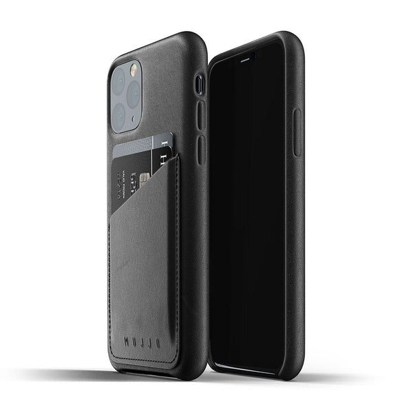Mujjo Leather Wallet case for iPhone 11 Pro in Black