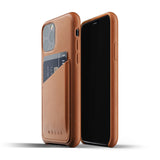 Mujjo Leather Wallet case for iPhone 11 Pro in Tan
